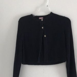 Other - Girls Brooks Brothers Crop Sweater Navy.  Size L